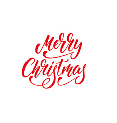 merry christmas lettering xmas calligraphy text vector image