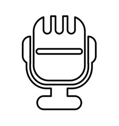 Microphone sound isolated icon vector