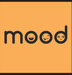 Mood typographic concept with faces vector
