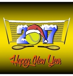 New Year numbers 2017 and tennis ball vector image