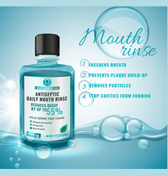 Oral rinse image vector