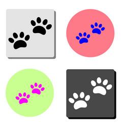 paw print flat icon vector image
