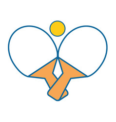 Ping pong sport vector