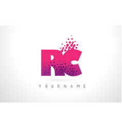 Rc r c letter logo with pink purple color and vector