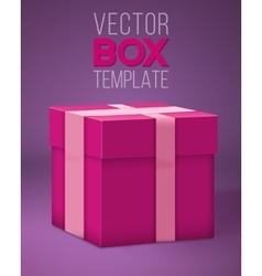 Realistic 3D Present Gift Box Cartoon Style vector