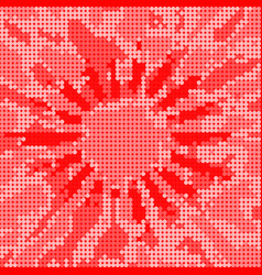 red dot halftone effect background vector image