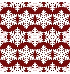Red snowflakes seamless vector