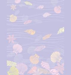 Sea shells underwater vector