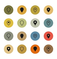 Set map markers vector