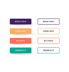 set modern flat app or game buttons trendy vector image