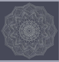 silver color mandala vintage decorative elements vector image