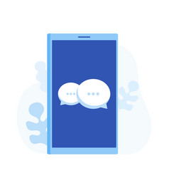 smartphone with chat messages bubble vector image