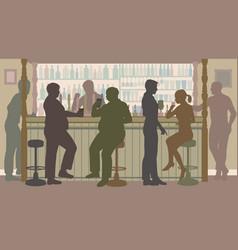 social bar vector image