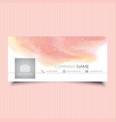 social media cover design vector image