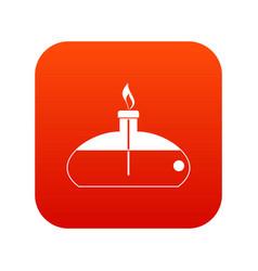 Spiritlamp icon digital red vector