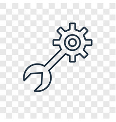Tools concept linear icon isolated on transparent vector