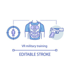 Vr military training concept icon vector