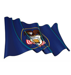 waving flag state utah vector image