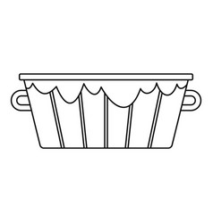 Wooden bucket icon outline style vector