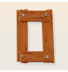Wooden type vector