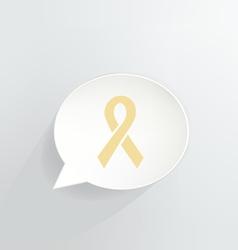Yellow Ribbon vector image