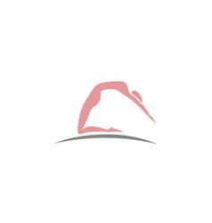 yoga pose logo design vector image