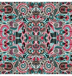 Ethnic seamless background floral pattern in vector image