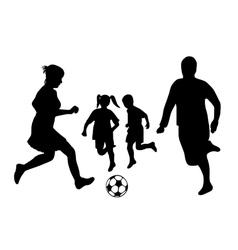 family soccer vector image