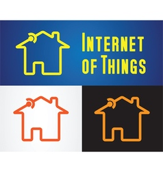 internet of things icon vector image