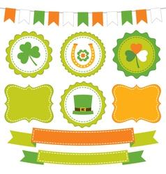 Irish set vector image vector image