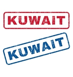 Kuwait rubber stamps vector