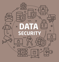 linear data security vector image