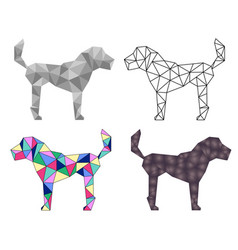 low poly dog vector image