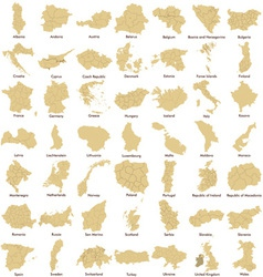 Maps of European Countries detailed vector image vector image