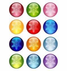 snowflakes icon vector image vector image