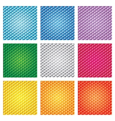 Triangle pattern set vector image