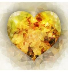 autumn background triangle design vector image