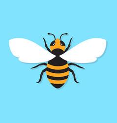 bee icon flat vector image