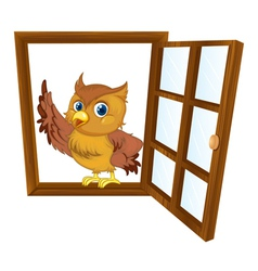 bird in a window vector image vector image