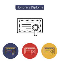 diploma certificate award icon vector image vector image