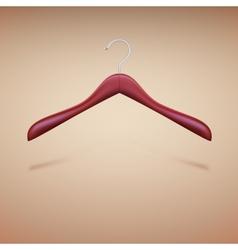Wooden shoulder on the hanger vector image