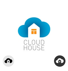 Cloud house logo Real estate building theme use vector image vector image