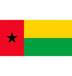 guineabissau flag vector image vector image