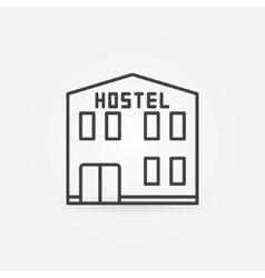 Hostel building icon vector