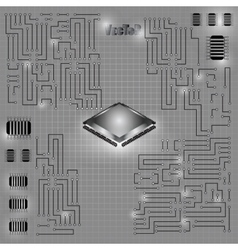 Motherboard 01 vector image