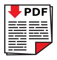 PDF icon1 vector image vector image