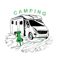 route to camping for navigation vector image