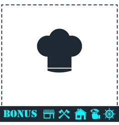 Chef hat icon flat vector image