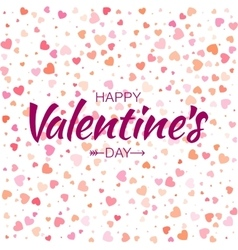 Happy Valentines Day Card hearts background vector image vector image