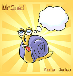 Mr snail with dreaming vector